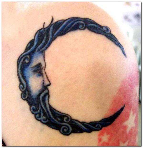 75 Tatuajes Con Una Luna Creciente Nueva Y Llena