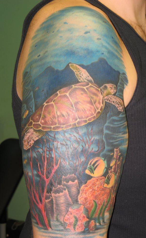 70 Galería De Tatuajes Del Mar Y Del Océano Con Agua Y Peces
