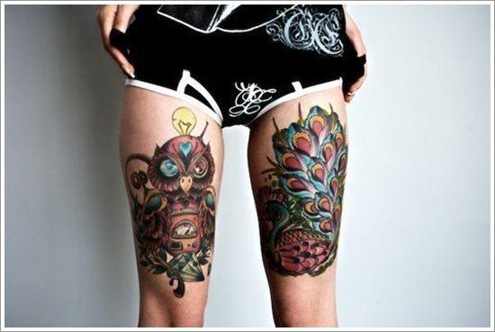 foto tatuaggio gamba coscia 214