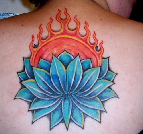 1042 fire flame tattoo