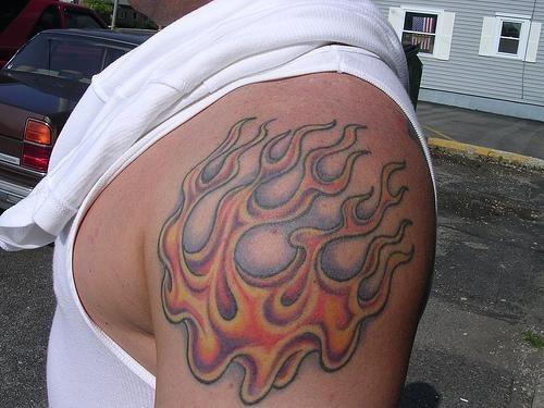 1048 fire flame tattoo