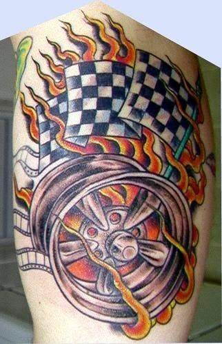 1058 fire flame tattoo