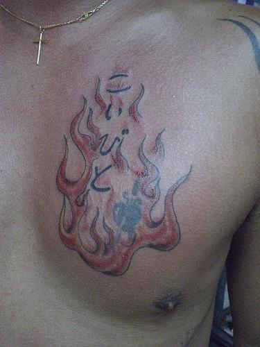 1071 fire flame tattoo