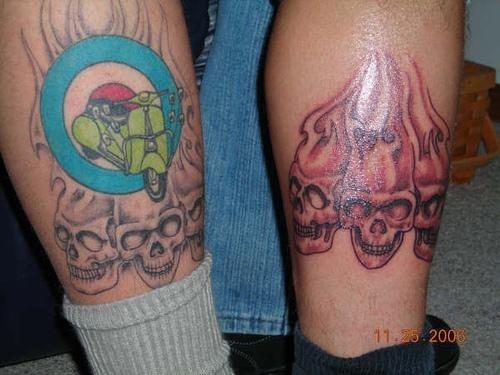 1081 fire flames tattoo