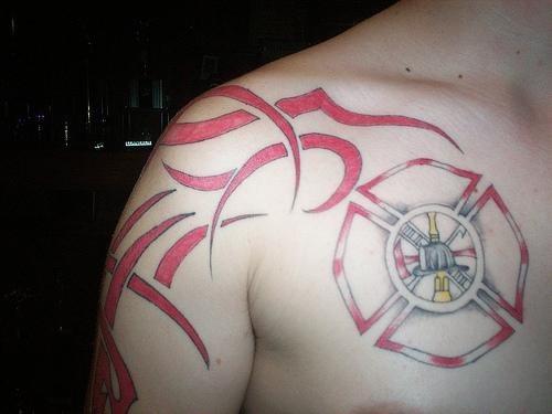 1083 fire flames tattoo