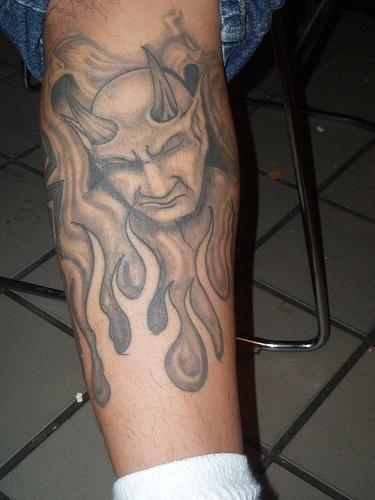 1088 fire flames tattoo