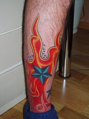 Fire Flames Tattoo 1090