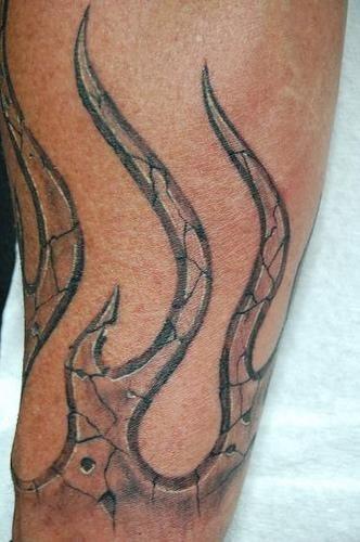 Fire Flames Tattoo 1109