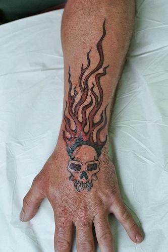 1112 fire flames tattoo