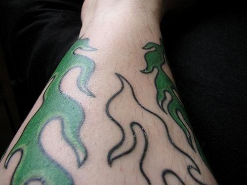 Fire Flames Tattoo 1114