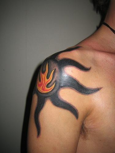 Fire Flames Tattoo 1117