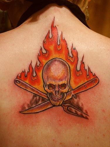 1001 fire flame tattoo