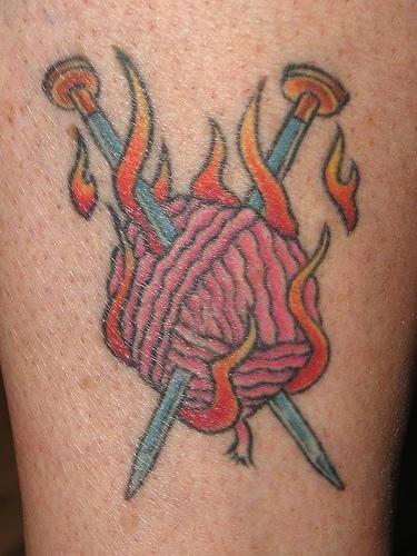 1005 fire flame tattoo