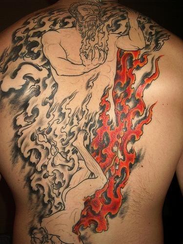 Fire Flame Tattoo 1007