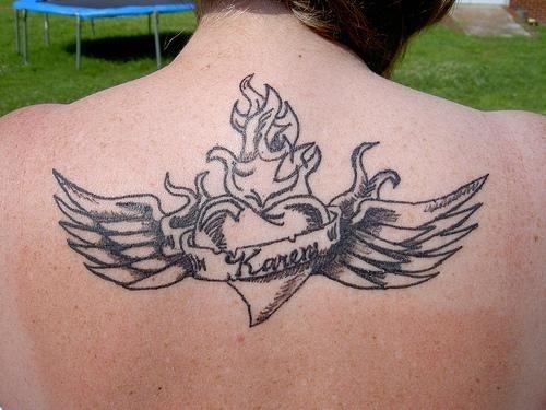 1008 fire flame tattoo