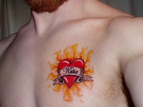 Fire flame tattoo 1012