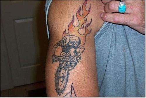 Fire flame tattoo 1013