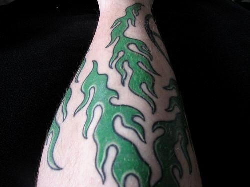 Fire flame tattoo 1016