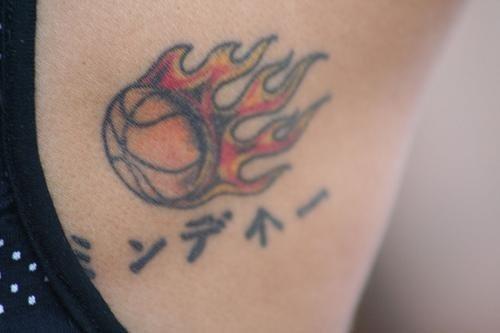 1028 fire flame tattoo