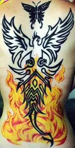 1029 fire flame tattoo