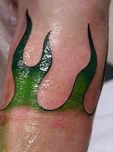 1031 fire flame tattoo