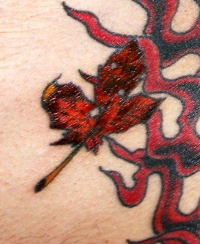 1033 fire flame tattoo