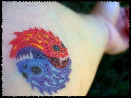 1037 fire flame tattoo