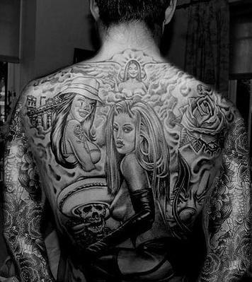 Tattoo of upper back 1002