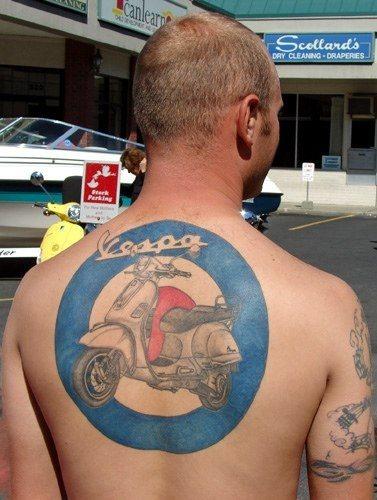 Upper back tattoo 1012