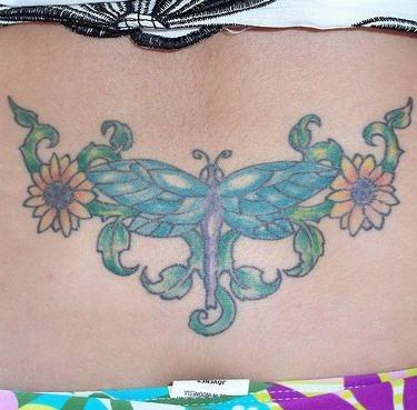 Upper Back Tattoo 1013