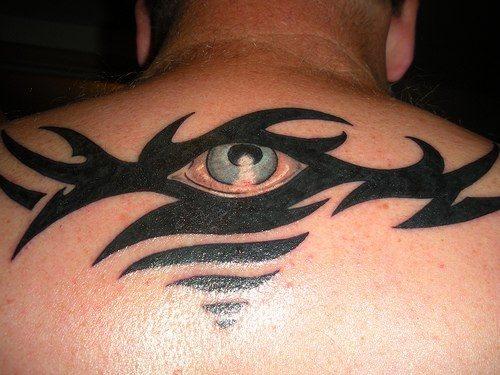 Upper Back Tattoo 1020