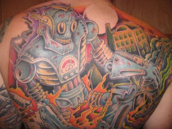 Upper Back Tattoo 1021