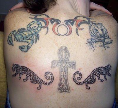 Upper Back Tattoo 1023