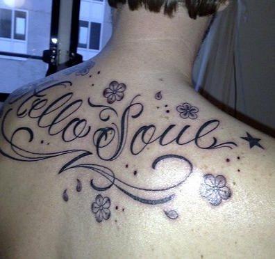 Upper Back Tattoo 1025