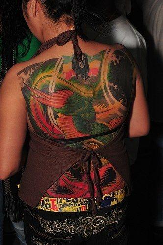 Upper Back Tattoo 1026