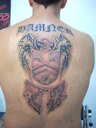 Upper Back Tattoo 1027