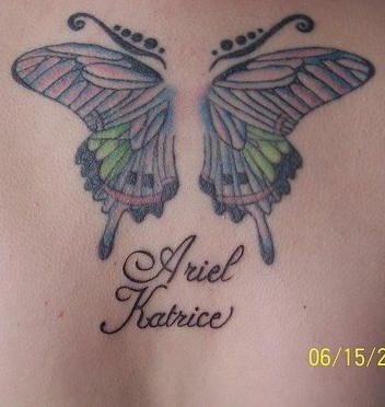 Upper Back Tattoo 1028