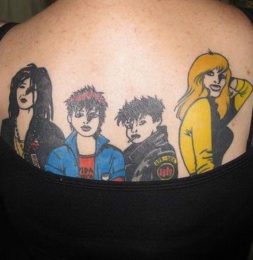 Upper Back Tattoo 1029