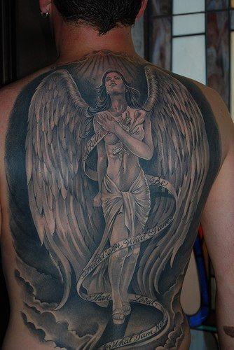Upper Back Tattoo 1031