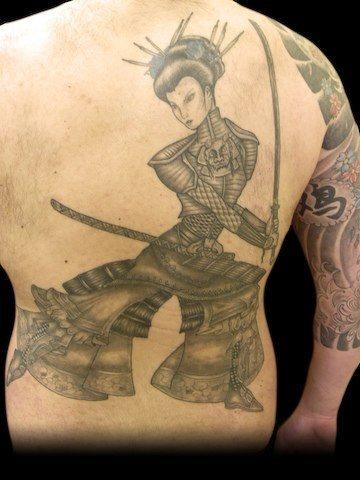 Upper Back Tattoo 1036