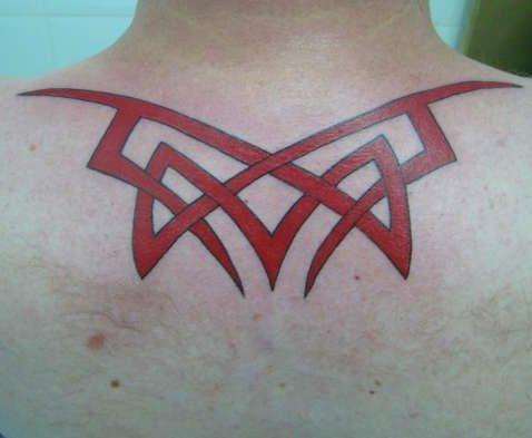 Upper Back Tattoo 1038