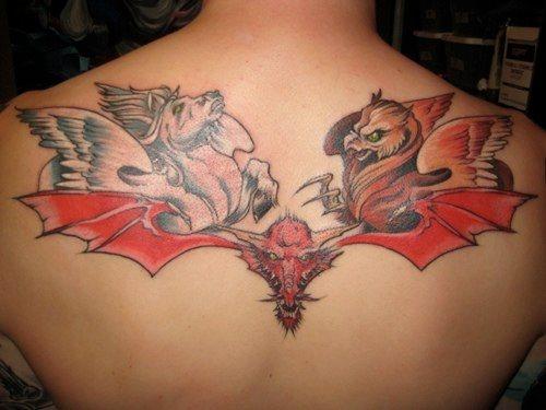 Upper Back Tattoo 1040