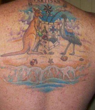 Upper Back Tattoo 1041