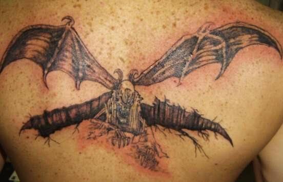 Upper Back Tattoo 1044