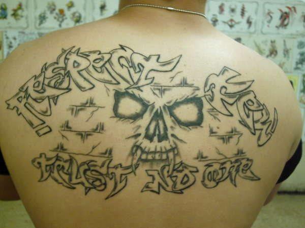Upper Back Tattoo 1046