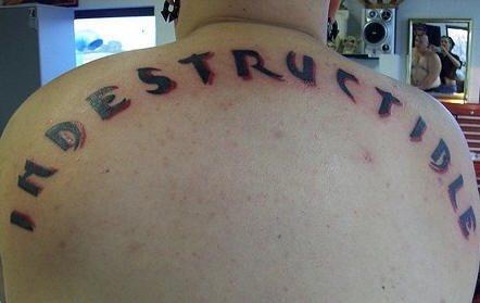 Upper back tattoo 1056