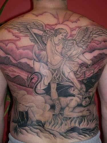 501 back tattoo