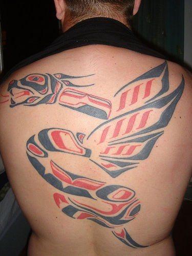 506 back tattoo