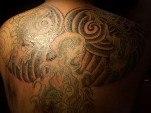 Back tattoo 514