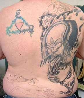 Back tattoo 519